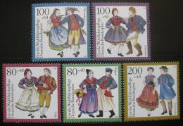 Poštovní známky Nìmecko 1993 Lidové kroje Mi# 1696-1700