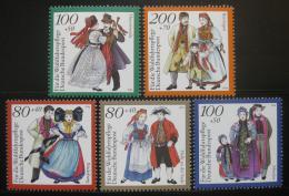 Poštovní známky Nìmecko 1994 Lidové kroje Mi# 1757-61 Kat 10€