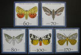 Poštovní známky Nìmecko 1992 Motýli Mi# 1602-06