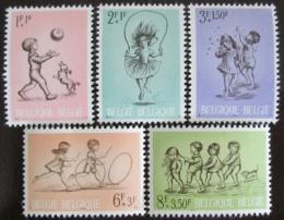 Poštovní známky Belgie 1966 Dìtské hry Mi# 1456-60