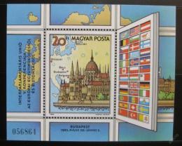 Poštovní známka Maïarsko 1983 Meziparlamentní unie Mi# Block 163