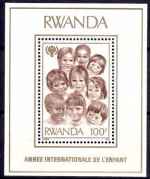 Poštovní známka Rwanda 1979 Mezinárodní rok dìtí Mi# Block 86