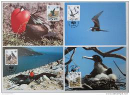 Maxikarty Ascension 1990 Ptáci, WWF 094 Mi# 521-24