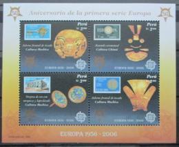 Poštovní známky Peru 2005 Výroèí Evropa CEPT Mi# Block 32