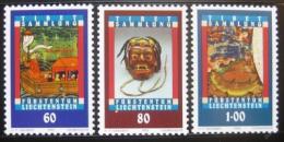 Poštovní známky Lichtenštejnsko 1993 Tibetské umìní Mi# 1061-63