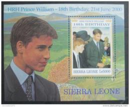 Poštovní známka Sierra Leone 2000 Princ William Mi# Block 452