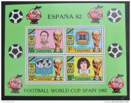 Poštovní známky Tanzánie 1982 MS ve fotbale Mi# Bl 27