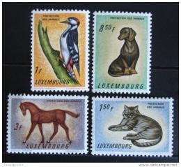 Poštovní známky Lucembursko 1961 Ochrana zvíøat Mi# 637-40