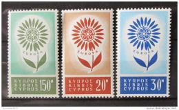 Poštovní známky Kypr 1964 Evropa CEPT Mi# 240-42 Kat 35€