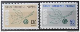 Poštovní známky Turecko 1965 Evropa CEPT Mi# 1961-62