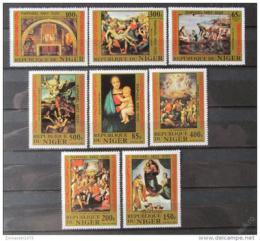 Poštovní známky Niger 1983 Umìní, Raffael Mi# 835-42