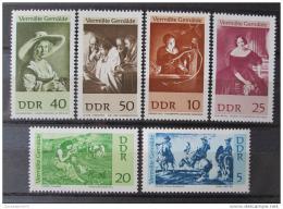 Poštovní známky DDR 1967 Umìní Mi# 1286-91