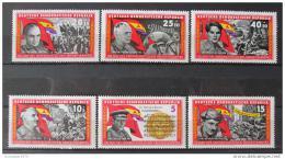 Poštovní známky DDR 1966 Španìlská obèanská válka Mi# 1196-1201