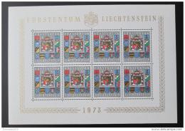Poštovní známky Lichtenštejnsko 1973 Erby Mi# 590 Kat 65€