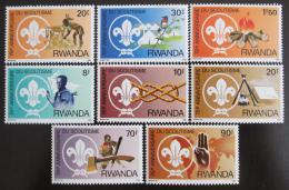 Poštovní známky Rwanda 1983 Skauting Mi# 1206-13