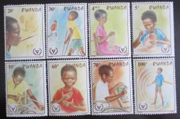 Poštovní známky Rwanda 1981 Rok postižených Mi# 1143-50