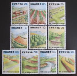 Poštovní známky Rwanda 1983 Boj proti pùdní erozi Mi# 1224-33