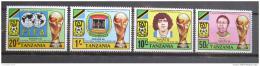 Poštovní známky Tanzánie 1982 MS ve fotbale Mi# 197-200