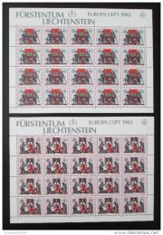 Poštovní známky Lichtenštejnsko 1982 Evropa CEPT Mi# 791-92 Kat 40€