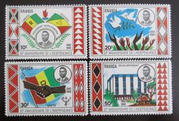Poštovní známky Rwanda 1982 Výroèí nezávislosti Mi# 1175-78