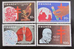 Poštovní známky Rwanda 1982 Objev TBC Mi# 1187-90