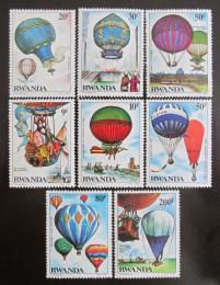 Poštovní známky Rwanda 1984 Lety balónem Mi# 1267-74