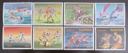 Poštovní známky Rwanda 1984 LOH Los Angeles Mi# 1275-82