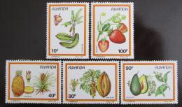 Poštovní známky Rwanda 1987 Ovoce Mi# 1370-74