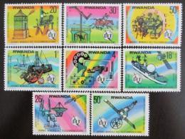 Poštovní známky Rwanda 1977 Den komunikace Mi# 873-80