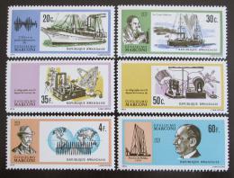 Poštovní známky Rwanda 1974 Guglielmo Marconi, vynálezce Mi# 634-39