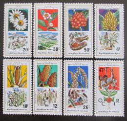 Poštovní známky Rwanda 1975 Zemìdìlské plodiny Mi# 691-98