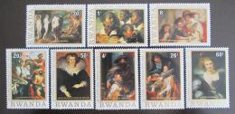 Poštovní známky Rwanda 1977 Umìní, Rubens Mi# 883-90