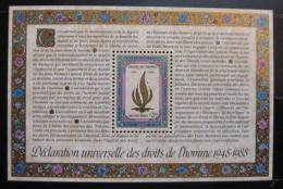Poštovní známka OSN Ženeva 1988 Lidská práva Mi# Block 5