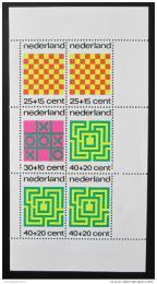 Poštovní známka Nizozemí 1973 Spoleèenské hry Mi# Block 12