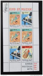 Poštovní známka Nizozemí 1992 Dìti a hudba Mi# Block 37