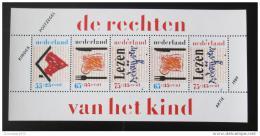 Poštovní známky Nizozemí 1989 Dìti a jejich práva Mi# Bl 33