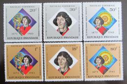 Poštovní známky Rwanda 1973 Mikuláš Kopernik Mi# 612-17