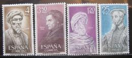 Poštovní známky Španìlsko 1967 Osobnosti Mi# 1677-80