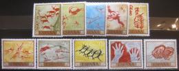 Poštovní známky Španìlsko 1967 Skalní malby Mi# 1665-74