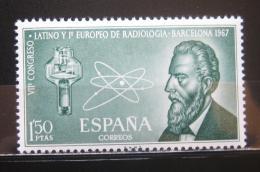 Poštovní známka Španìlsko 1967 W. K. Rontgen Mi# 1676