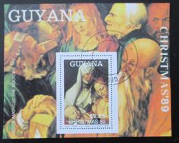 Poštovní známka Guyana 1989 Umìní, Durer, vánoce Mi# Block 74
