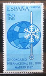 Poštovní známka Španìlsko 1967 Kongres lednièek Mi# 1708