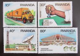 Poštovní známky Rwanda 1986 Pøeprava a komunikace Mi# 1327-30