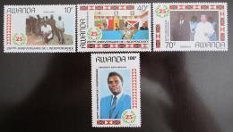 Poštovní známky Rwanda 1989 Výroèí nezávislosti Mi# 1366-69