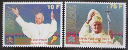 Poštovní známky Rwanda 1990 Papež Jan Pavel II. Mi# 1439-40 Kat 18€