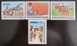 Poštovní známky Rwanda 1989 Vesnice Mi# 1417-20
