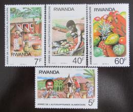 Poštovní známky Rwanda 1987 Sobìstaènost s potravinami Mi# 1362-5
