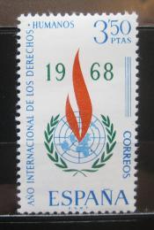 Poštovní známka Španìlsko 1968 Rok lidských práv Mi# 1763