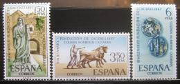 Poštovní známky Španìlsko 1967 Založení Cáceres Mi# 1720-22