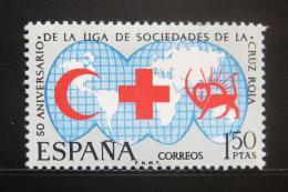 Poštovní známka Španìlsko 1969 Èervený køíž Mi# 1813